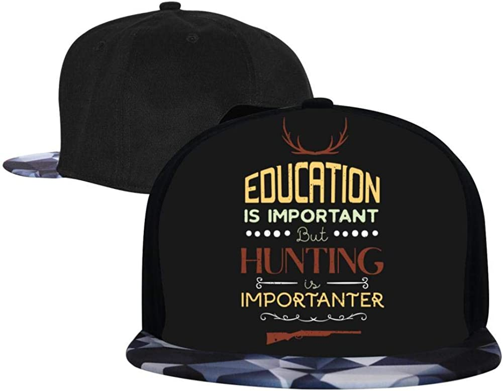 EUYK77 Education is Important But Mens and Womens Trucker Hats Adjustable Hip Hop Flat-Mouthed Baseball Caps