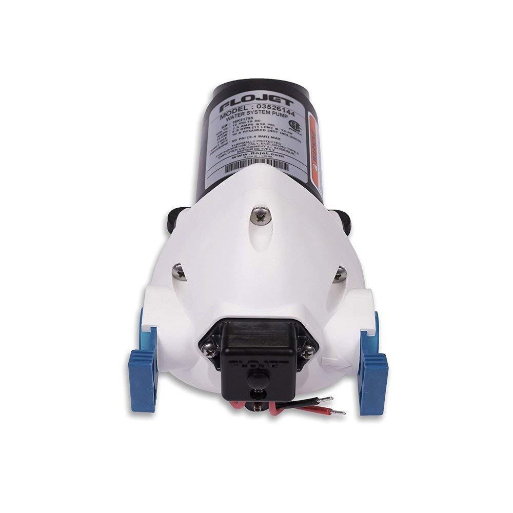 Flojet 03526-144A Triplex Diaphragm Automatic Water System Pump, 2.9 GPM 50 PSI