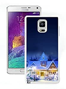 Niche market Phone Case Christmas town White Samsung Galaxy Note 4 Case 1