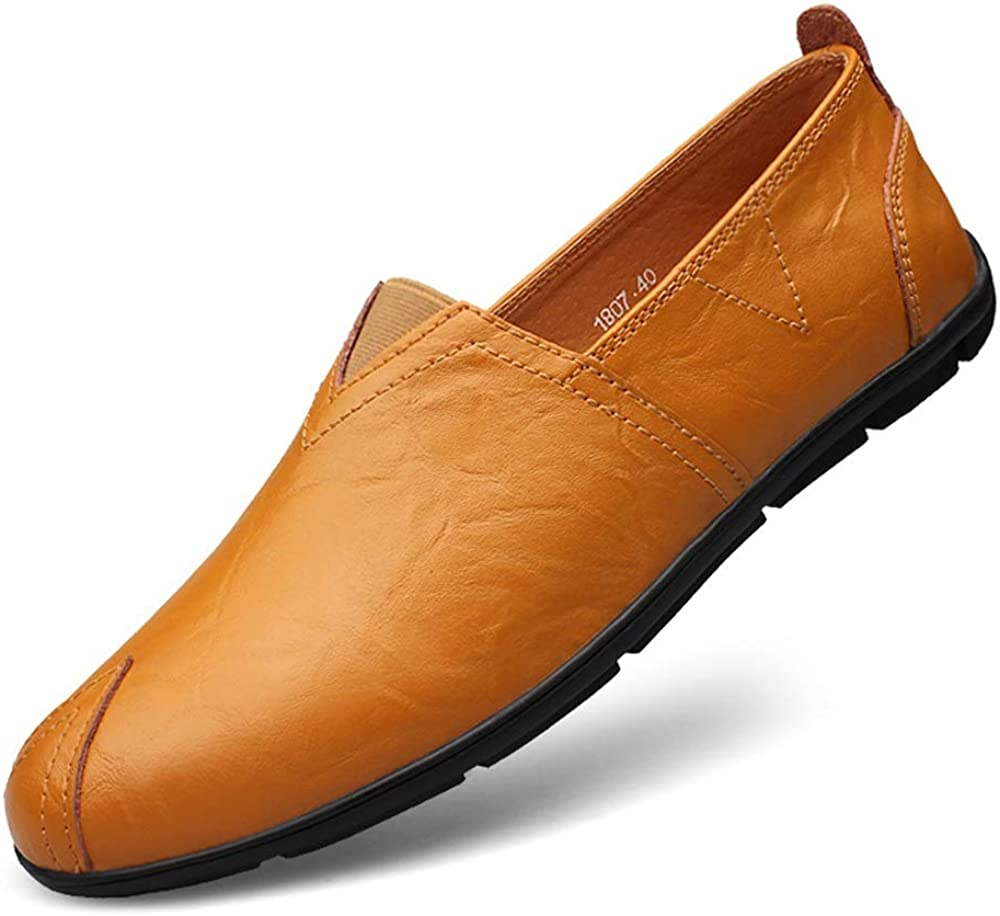 Standard Shoes Shoes Man Driving Loafer Casual OX Leather Soft Sole Round Toe Shoes Front Elastic Belt Small Size36 Leisure Boat Moccasins Leisure Shoes Fashion Shoes