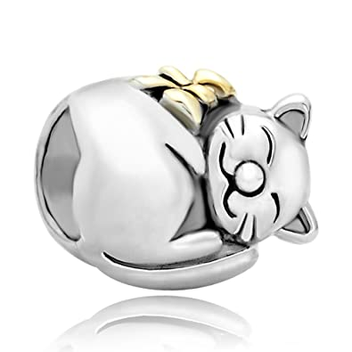 Pugster Cat Animal Charms 925 Silver Jewellery New Sale Cheap Bead Fits Pandora Chamilia Charm Bracelet Gifts 7TmOhlV