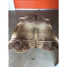 Vanhides Cowhide Rug Leather Carpet Size 6x5 (180cmX150cm)