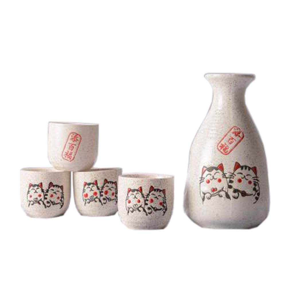 FANCY PUMPKIN Creative Sake Rice Wine Pitcher Cups Sets for Japanese Restaurant, 01