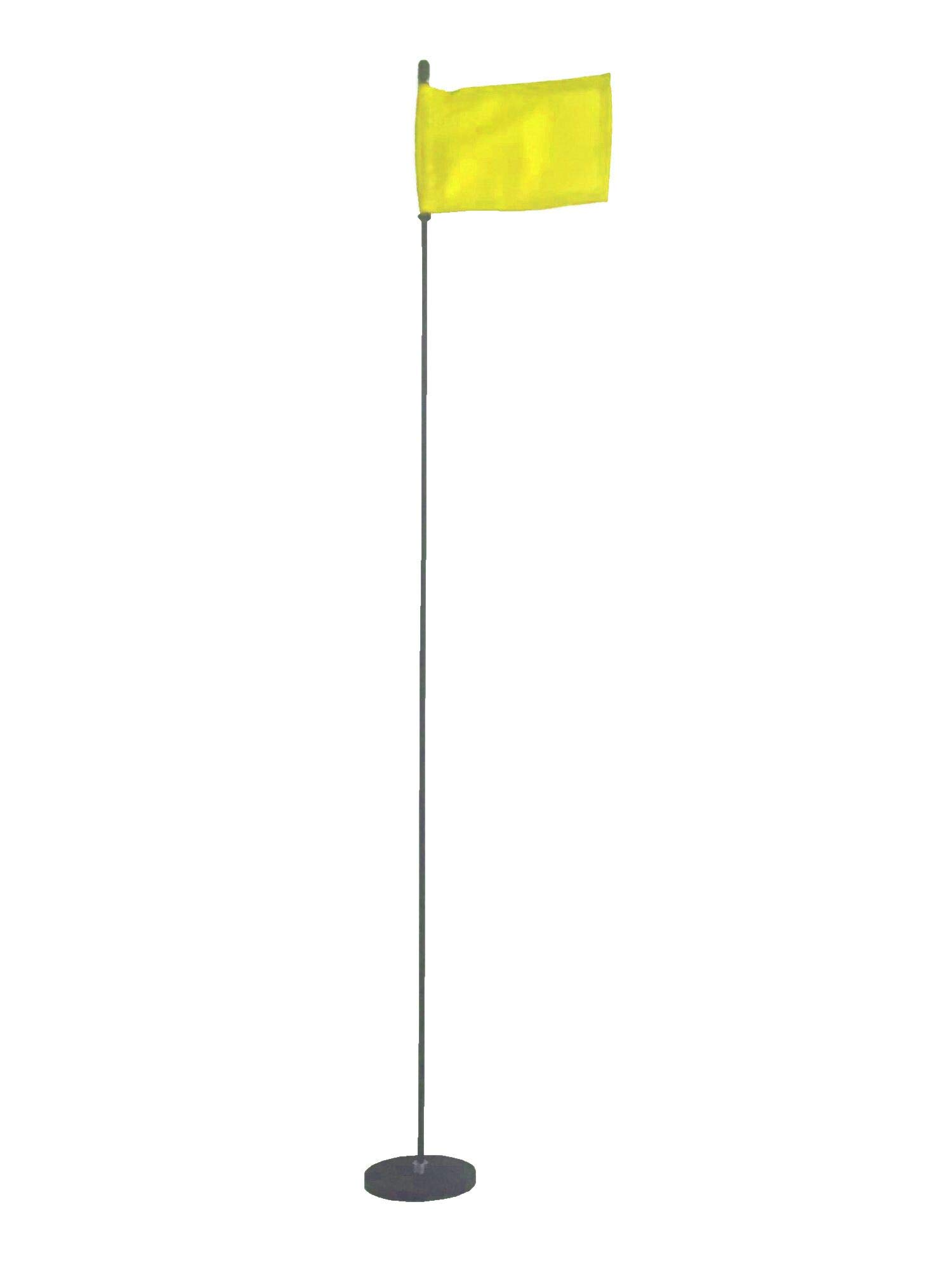 Magnetic Base Flag Holder - Hold Force 44 lbs. Flex Steel Spring Pole 36 inch (4 x 6) Yellow Flag