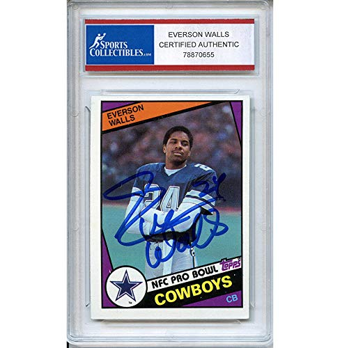 (Everson Walls Autographed Signed 1984 Topps Trading Card - Certified Authentic)