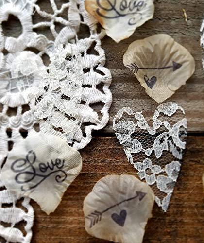 Wedding Decorations for Tables, Flower Petals For Wedding,Rustic Elegant Wedding Ideas, Bridal Shower Table Decorations]()