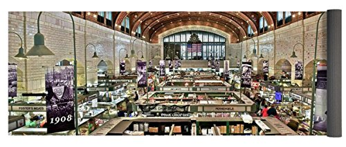 Pixels Yoga Mat w/ Bag ''Classic Westside Market'' by Pixels