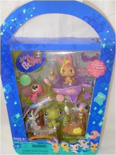 Littlest Pet Shop Figures Playset 2008 Spring Basket with 5 Pets](Littlest Pet Shop Dog House)