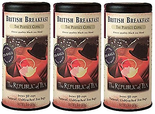 The Republic of Tea, British Breakfast Tea, 50-Count Pack of 3 (Republic Of Tea British compare prices)