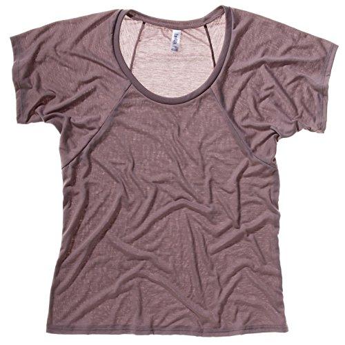 Bella Canvas 8801 Flowy Pebble-Maglietta da donna, taglia L, colore: marrone