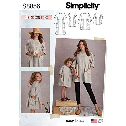 - Simplicity US8856A Pattern S8856 Child's and Misses' Dress and Tunic, A (3-8/XS-XL