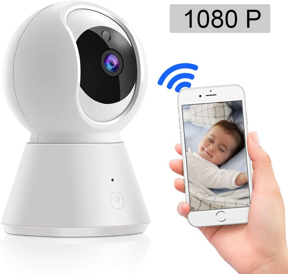 Blibly 1080P WiFi IP Security Camera for Baby Elder Pet, APP Remote Control Two-Way Voice Intercom, HD Infrared Night Vision Function Motion Tracking, Pan Tilt Zoom with Home Security System