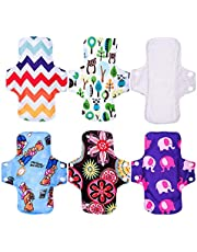 """KYK 9"""" Regualr Cloth Menstrual Pad Sanitary Napkin Female Liner Reusable Breathable Bamboo Fiber or Bamboo Charcoal inner (Color : F4)"""