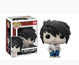 CJH Death Note:pop! L with Cake Popular Cartoon PVC Figure with Exquisite Packaging The Best Collection for Death Note fans 10cm