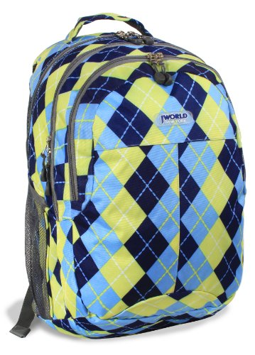 J World New York Cornelia Backpack, Argyle Navy, One Size