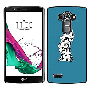 // PHONE CASE GIFT // Duro Estuche protector PC Cáscara Plástico Carcasa Funda Hard Protective Case for LG G4 / Cute Cartoon Panda White /