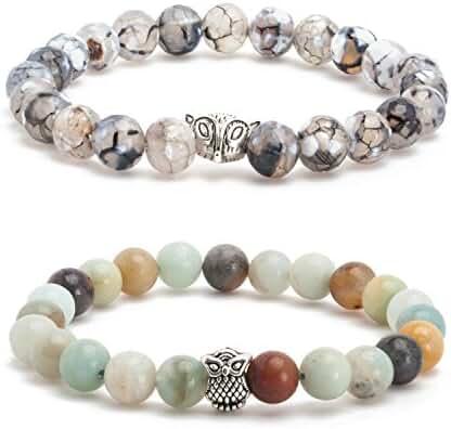Mens Bracelet Bead Bracelet for Men Chakra Bracelet Lava Rock Bracelet for Men