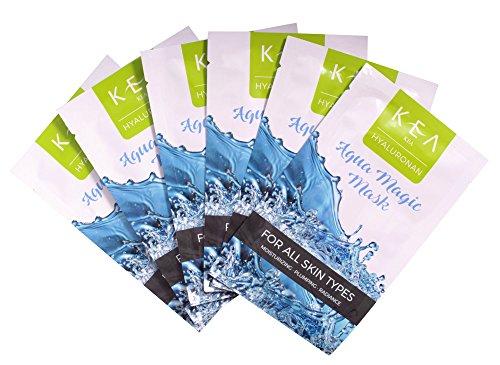 KEA Aqua Magic Face Sheet Mask w/Hyaluronic Acid 8Pcs -Moisturizing/Brightening