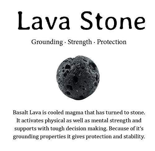 Protection Calming Chakra Natural Lava Stone Beads Bracelet Handmade 10mm Stretch Women Men Lotus Essential Oil