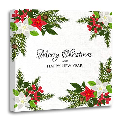Emvency Canvas Wall Art Print Christmas Party