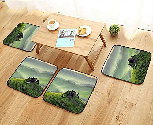 (Jiahonghome Universal Chair Cushions Sunrise Over The Italian Countryside Tuscany Personalized Durable W15.5 x L15.5/4PCS)