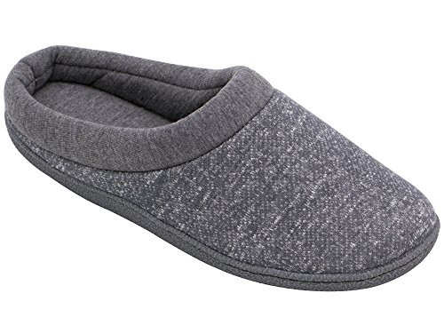 HomeTop Women's Comfort Slip On Memory Foam French Terry Lining Indoor Clog House Slippers