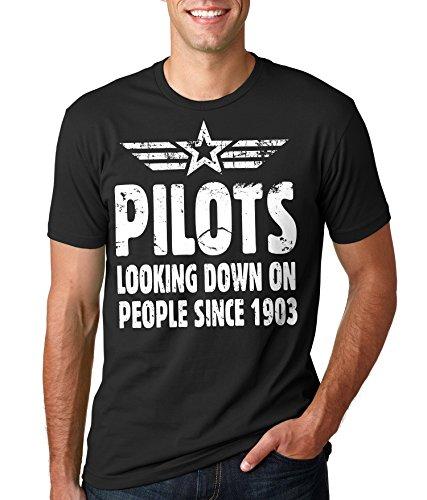 Pilot T-Shirt Cool Pilot Flight T-Shirt Small Black
