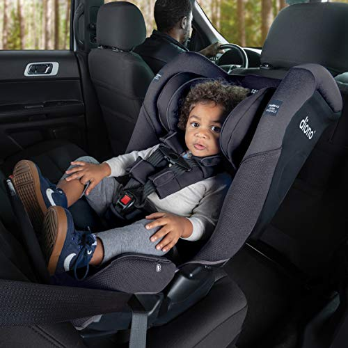 51is4Uei3NL - Diono Radian 3QX 4-in-1 Rear & Forward Facing Convertible Car Seat | Safe+ Engineering 3 Stage Infant Protection, 10 Years 1 Car Seat, Ultimate Protection | Slim Design - Fits 3 Across, Jet Black