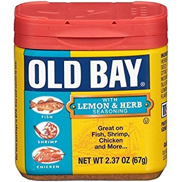 Old Bay Seasonings Lemon Herb, 2.3 oz (Bay Seasoning Seafood)