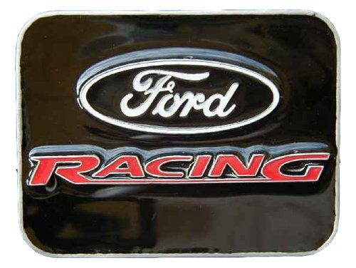 Ford Racing Belt Buckle - Ford Racing Colored Novelty Belt Buckle