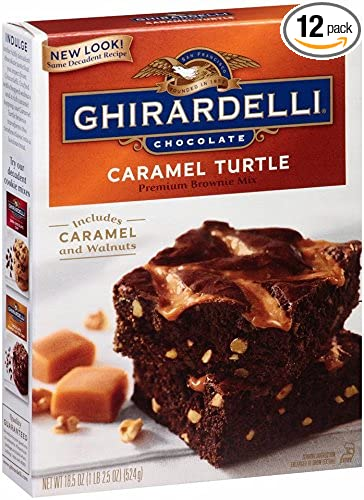 Ghirardelli Chocolate Caramel Turtle Brownie Mix 18 5 Ounce Bo Pack Of 12