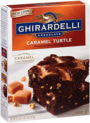 Brownie Turtle - Ghirardelli Chocolate Caramel Turtle Brownie Mix, 18.5-Ounce Boxes (Pack of 12)