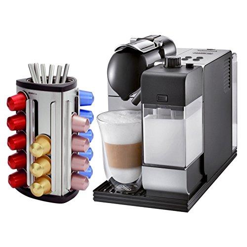 DeLonghi Lattissima Plus EN520SL Silver Nespresso Capsule Espresso and Cappuccino Machine with Bonus 30 Capsule Carousel