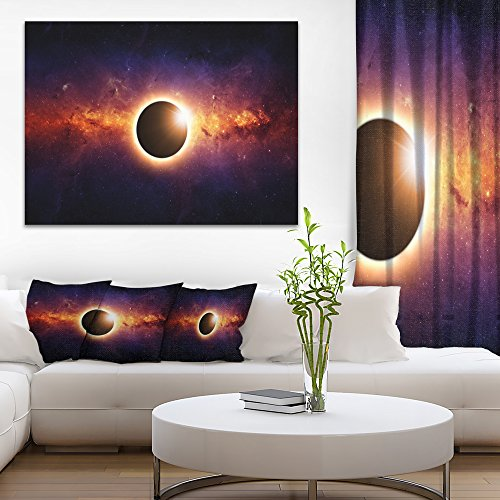 Full Eclipse View Large Spacescape on Canvas Art Wall Photgraphy Artwork Print