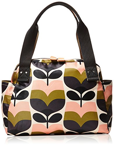 Orla Kiely Stripe Rosebud Print Zip Handbag Bag 16pesrb092
