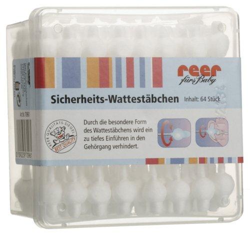 reer 70961 - Sicherheitswattestäbchen mit Aufbewahrungsbox