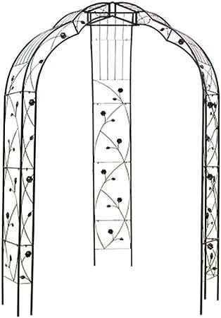 Arco De Rosas / Arco De Jardín, Enrejado De Metal Para Plantas Trepadoras, Soporte De Crecimiento De Patio De Jardín Para Jardín, Arco De Decoración De Fiesta Nupcial De Boda, Montaje Fácil: