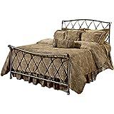 Hillsdale 1298BKR Silverton Bed Set with Bed Frame, King, Brushed Silver