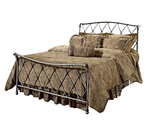 Hillsdale 1298BQR Silverton Queen Bed Set with Bed Frame, Brushed Silver (Hillsdale Bed Set Sleigh)