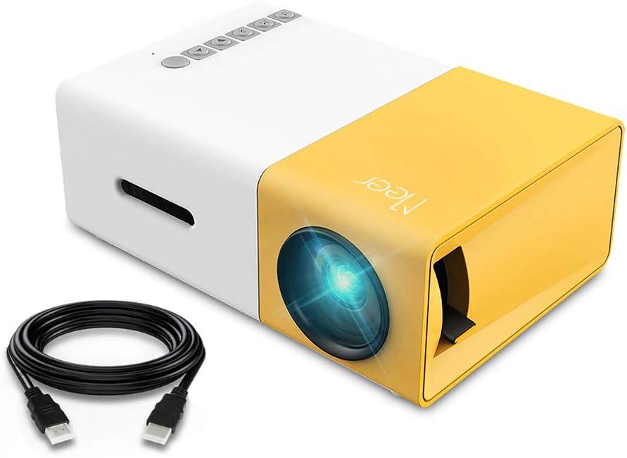 Mini Proyector, Meer Proyector Portable de Bolsillo con la Entrada de USB/SD/AV/HDMI para el Interfaz Teléfono Inteligente/TV/Películas/Juegos: Amazon.es: Electrónica