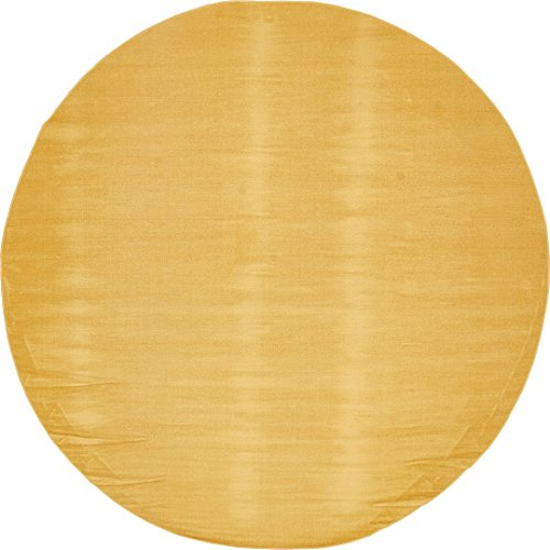 A2Z Rug Modern Caen Collection Rugs Gold 8' -Feet-Round Area -