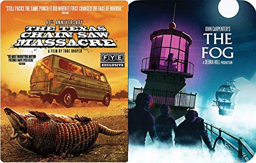 Don't Get Lost in Horror Blu-ray Steelbook Collection - The Fog John Carpenter (Limited Edition) & Texas Chainsaw Massacre 40th (Exclusive Limited Edition Steelbook 2 Movie Double Feature Bundle ()