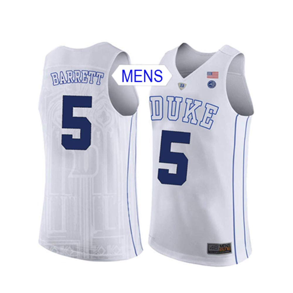 competitive price 19e57 0e612 Amazon.com: Wealthed RJ Barrett Duke College Stitched Mens ...