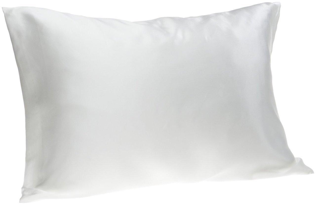 Spasilk 100-Percent Pure Silk Facial Beauty Pillowcase, Standard/Queen, White