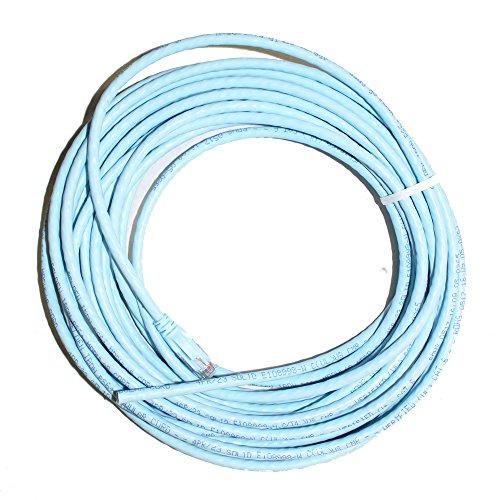 Belden AX350284 Cat6+ Patch Cord Cable, Rj45 - Raw, CMR, UTP, Light Blue, 35' Belden Patch Cords