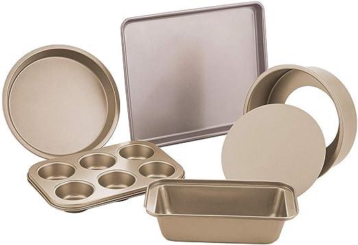 PIE or CAKE PANS /& COOKIE SHEET MINIATURE BAKING SET 6 pc TIN PAN SET MUFFIN