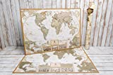 Best World Maps - Deluxe Large Scratch World map - Scratchable Map Review