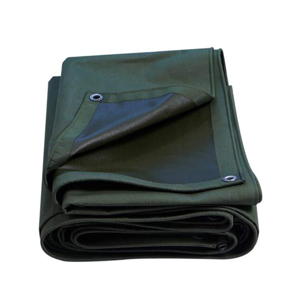 DALL ターポリン 多目的 タープ キャンバス 防水 日焼け止め キャンプ 庭園 屋外 (色 : Green, サイズ さいず : 3*3m) 3*3m Green B07KSR36Q2