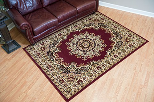 United Weavers of America Dallas Floral Kirman Rug, 8 x 10', Burgundy (Patios 10 Dallas In Best)