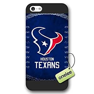 Personalize NFL Houston Texans Team Logo Frosted iPhone 5c Black Case Cover - Black by kobestar